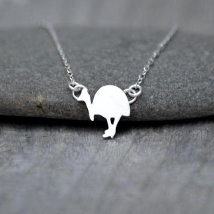 Southern Cassowary Necklace In Ster..