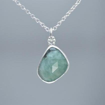 Rose Cut Emerald Necklace, 6.75ct E..