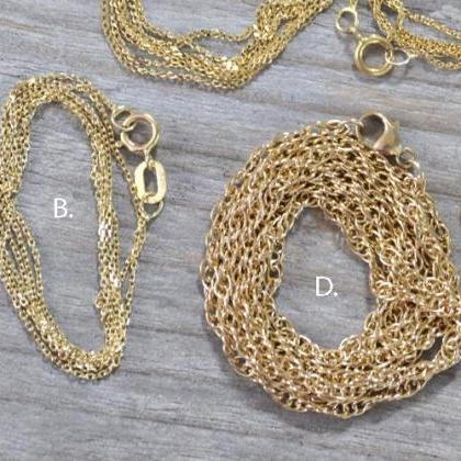 Solid 9ct Yellow Gold Chain, Curb C..