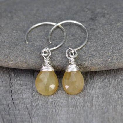 Yellow Sapphire Earrings, September..