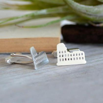 Colosseum Cufflinks In Sterling Sil..