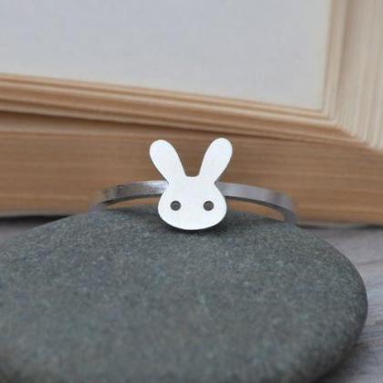 Bunny Rabbit Ring In Sterling Silve..