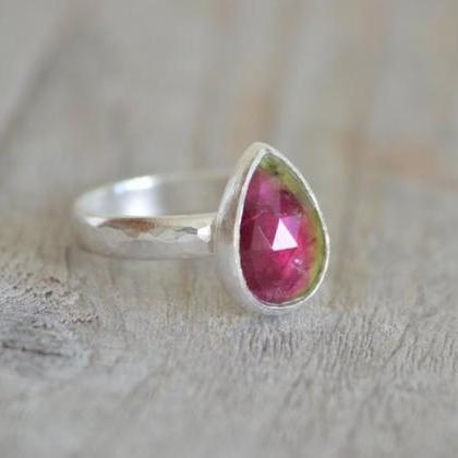 Watermelon Tourmaline Engagement Ri..