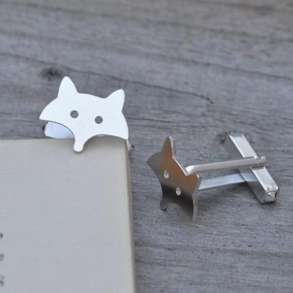 Fox Cufflinks In Sterling Silver, H..