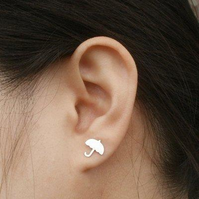 Umbrella Earring Studs In Sterling ..
