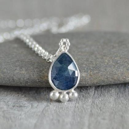 Rose Cut Sapphire Necklace, Somethi..
