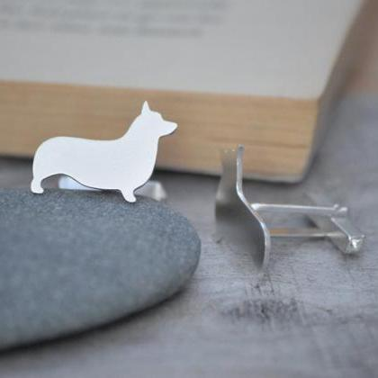 Corgi Cufflinks In Sterling Silver ..