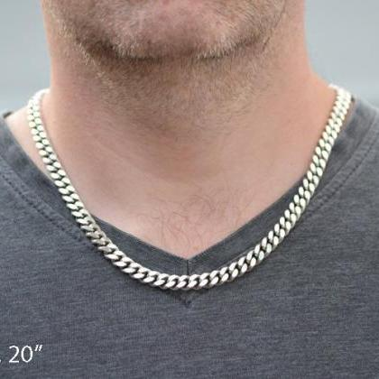 Sterling Silver Chain For Man, Silv..