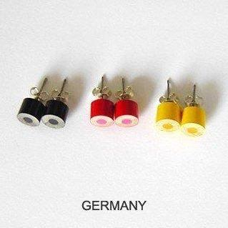 Color Pencil Ear Studs, Country Fla..