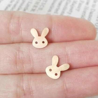 Bunny Rabbit Earring Studs With Str..