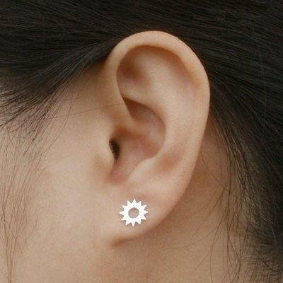 Sunshine Earring Studs In Sterling ..