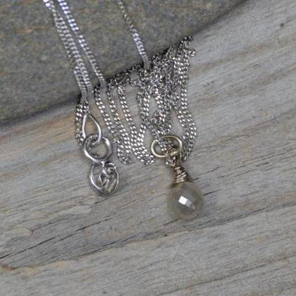 Raindrop Diamond Necklace with 18ct..