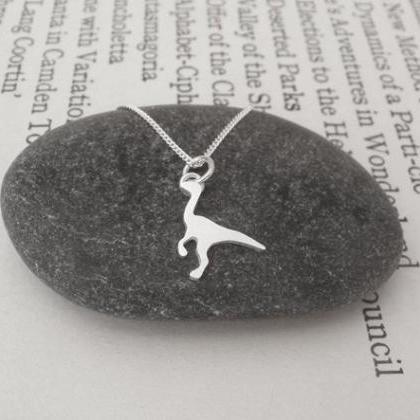 Dinosaur Necklace In Sterling Silve..