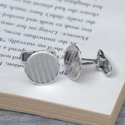 Simple Cufflinks In Sterling Silver..