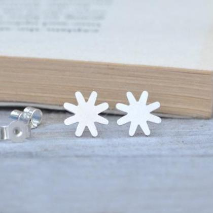 Star Earring Studs In Sterling Silv..