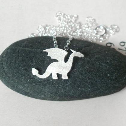 Dragon Necklace In Sterling Silver,..