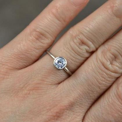 Moissanite Engagement Ring Set In 9..