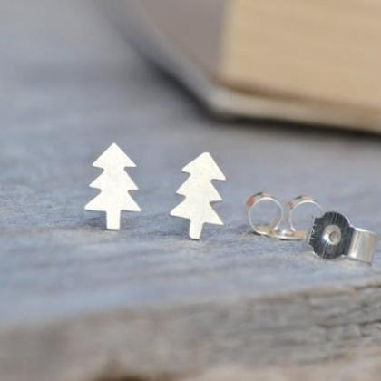 Christmas Tree Ear Studs In Sterlin..