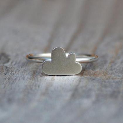 Fluffy Cloud Ring In Sterling Silve..