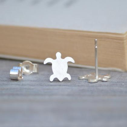 Sea Turtle Earring Studs, Animal Ea..
