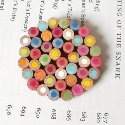 Color Pencil Brooch, Color Theme: M..