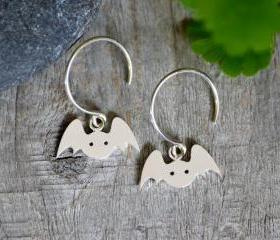 Bat Earrings In Ster..