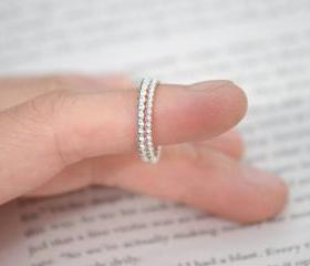 Beaded Stacking Ring..