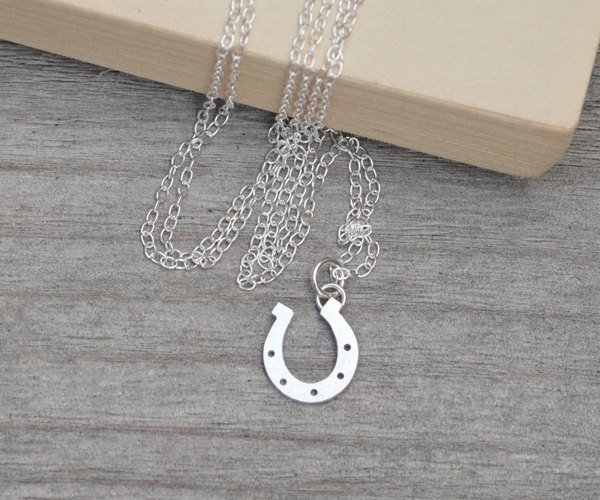 Lucky Horseshoe Necklace In Sterling Silver, Lucky Gift Handmade In The UK