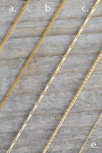 Solid 18ct Yellow Gold Chain, Diamond Cut Curb Chain, Barleycorn Chain, Spiga Chain, Belcher Chain, 16' Chain, 18 Inch Chain
