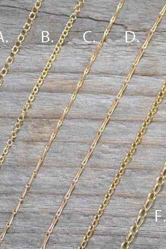 Solid 9ct Yellow Gold Chain, Trace Chain, Barleycorn Chain, Belcher Chain, 16', 18', And 20', Made In England