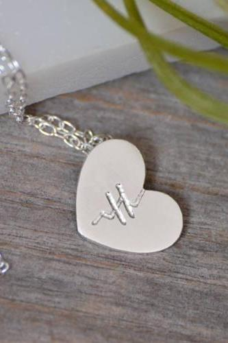 Mended Heart Necklace In Sterling Silver, Handmade In England