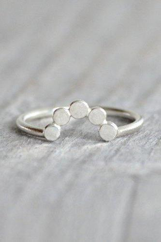 Contour Wedding Ring, Pebble Wedding Ring, Handmade In England