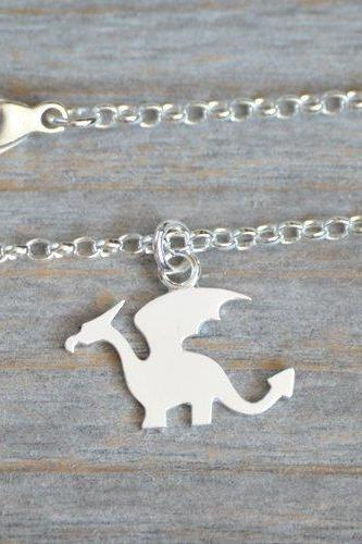Dragon Bracelet, Dragon Anklet In Solid Sterling Silver, Handmade In England