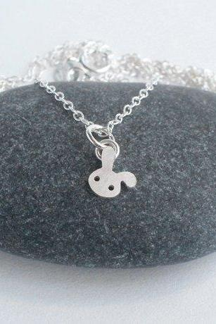 Bunny Rabbit Necklace, Floppy Ear Rabbit Necklace, Tiny Rabbit Necklace, Handmade In The UK