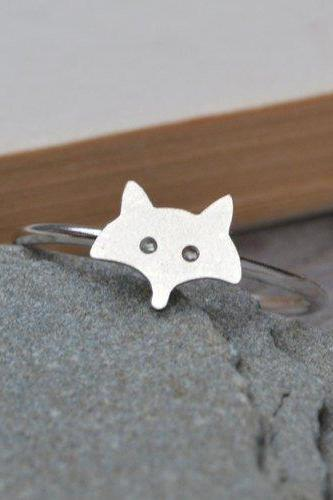 Fox Ring In Sterling Silver, Foxy Ring Handmade In The UK By Huiyi Tan