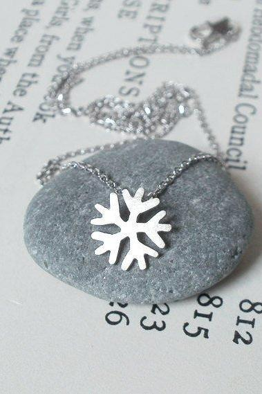 Snowflake Necklace, Weather Forecast Necklace In 18ct White Gold, Handmade In Beautiful Cornwall, UK