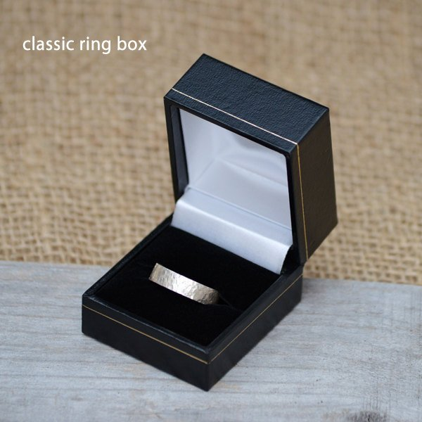 Classic Ring Box, Wooden Ring Box In Black, Presenting Your Gift, Gift Box Made In England