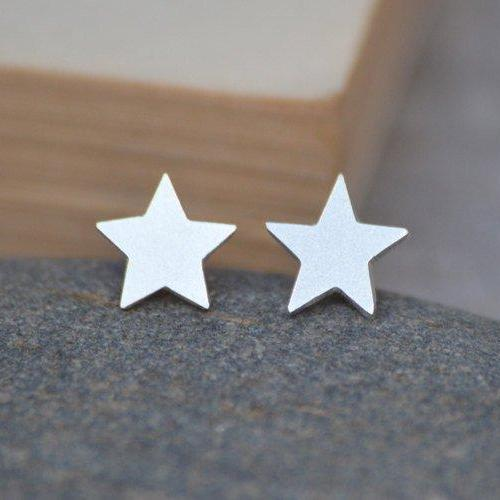 Star Earring Studs In Sterling Silver, Weather Forecast Earring Studs Handmade In The UK
