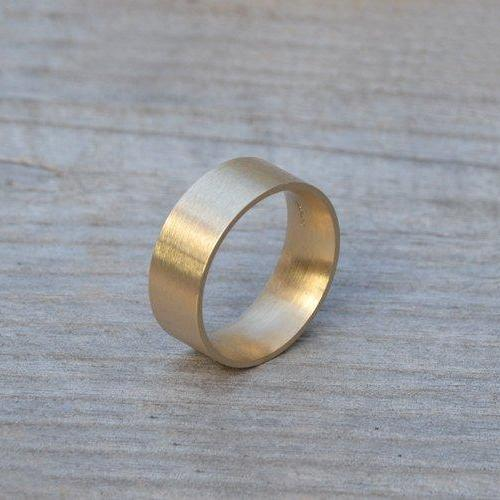 Comfort Fit Wedding Band, 4mm, 5mm, 6mm Or 8mm Wide Wedding Ring, Yellow Gold Handmade Wedding Ring, Man's Wedding Band
