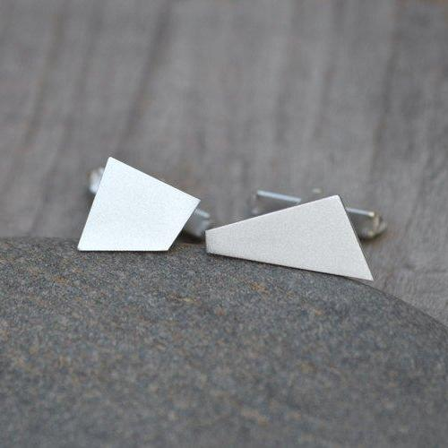 Quadrilaterals Cufflinks In Sterling Silver Handmade In England